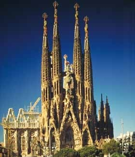 La Familia Segrada, Barecelona -- seen it 3 times now, would like to see it when it's finished.