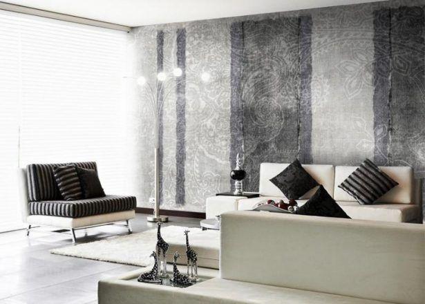 Tapeten Ideen Schrecklich Tapeten Wohnzimmer Modern Grau Ideen 5736