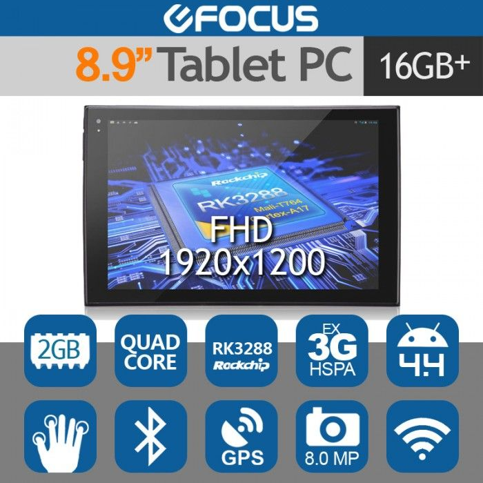 "PIPO P4 8.9"" FHD Tablet PC Android 4.4 RK3288 Quad Core 8MP 2G/16G"