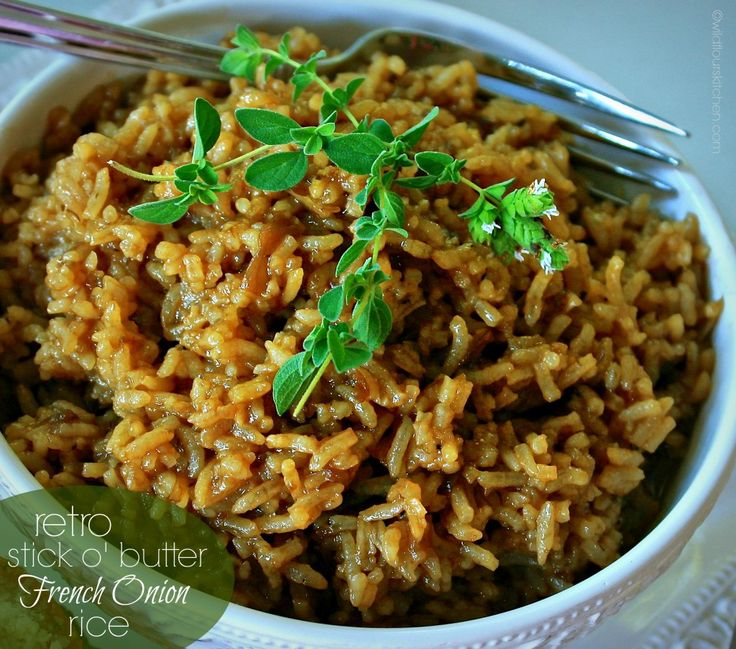 "Retro ""Stick o' Butter"" Beefy French Onion Rice - Wildflour's Cottage Kitchen"