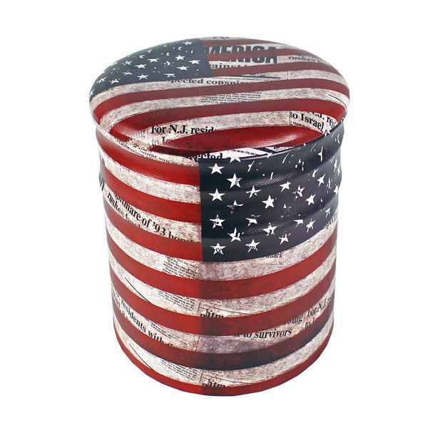 Details about Iron Storage Ottoman Vintage USA American Flag Design Home Office  Storage Space - 25+ Best Ideas About Ottoman Flag On Pinterest Beach Style Lamp
