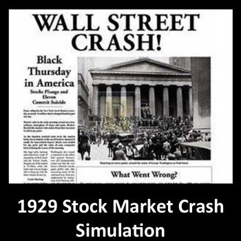 The 1929 Stock Market Crash was such an important event in world history.  This simulation, based on historical data, allows students to put themselves in the place of investment bankers throughout the roaring twenties and into the great depression.  The simulation was created with with data from the Dow Jones Industrial Average and the NY Federal Reserve to recreate the feeling and actions of the 1920's investors.