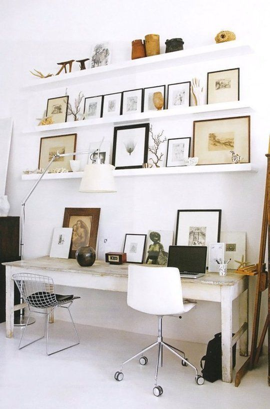 The way it should look...(How To Lean Art (Without It Looking Like You Forgot to Hang It) | Apartment Therapy)