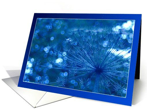Sparkling blue imagination - flowers plants blank note card by Steppeland