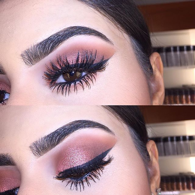 @anastasiabeverlyhills brow powder duo in dark brown & clear brow gel. @anastasiabeverlyhills shadow couture palette 'morocco' in the crease & 'intense gaze' on the lid . NYC liquid liner & ardell double wispies lashes ☺️ this look was so easy to achieve ! Don't forget to tag me if you recreate one of my looks I love seeing them ❤️❤️✨ #ardelllashes