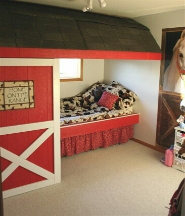 Western themed kids room. #barn #western