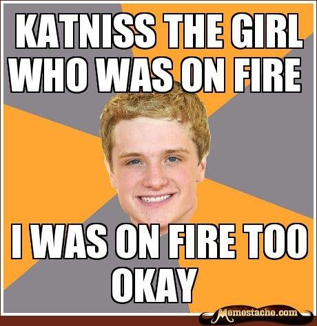 Katniss the girl who was on fire: Forget Peeta, Aww Peeta, Baker Problems, Advice Peeta, Funny, Feeling Left Out, Feelings Left, Boys Who, Forget Him
