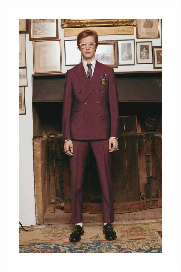 """Introducing Alessandro Michele's Cruise 2017 eveningwear dedicated to men """"who are in love with their wardrobe""""."""