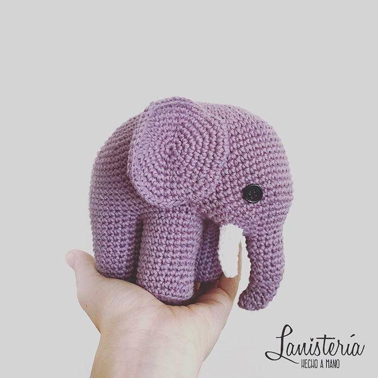 Paki, el elefante de la Lanistería ❤️  cochet amigurumi #elefante #amano