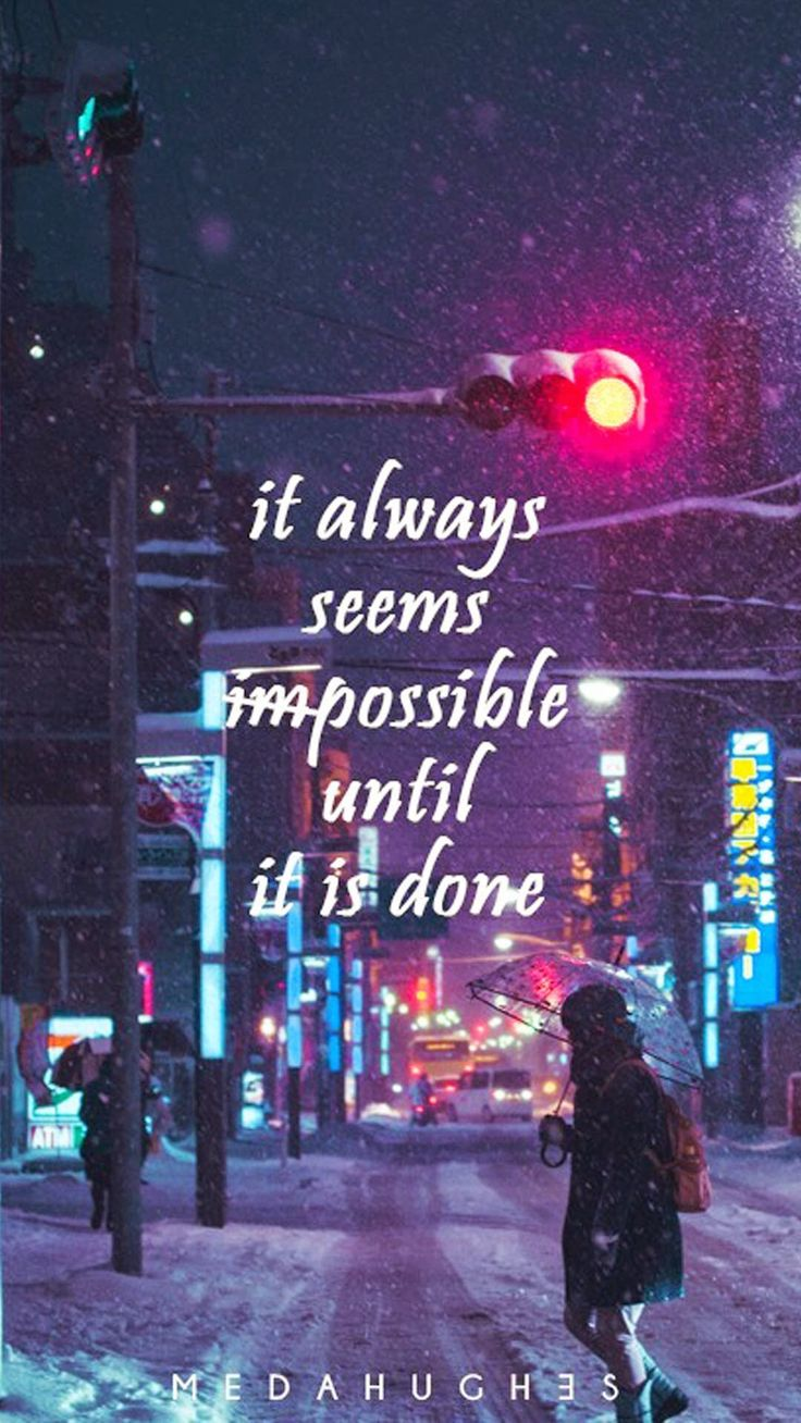 Tap image for more quote wallpapers! Do The Impossible