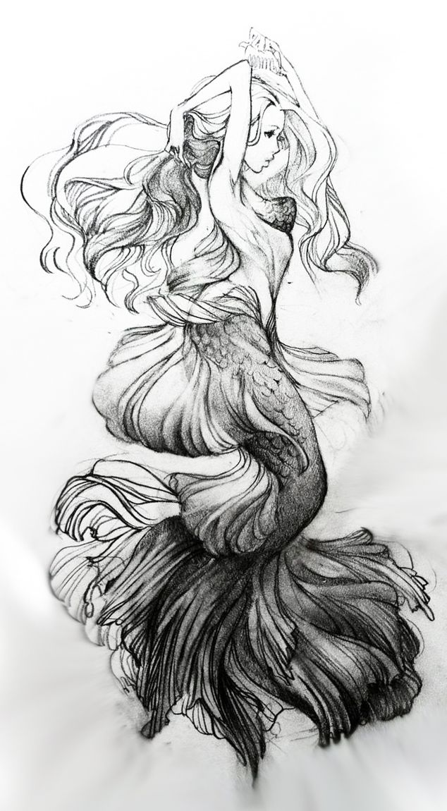 im so happy people draw mermaids more intricate than once before
