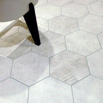 Carrelage hexagonal au dessous floors pinterest for Carrelage sol hexagonal
