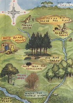 I remember loving this map. I still love maps- except I've moved on to more adult maps- like the Map of Middle Earth