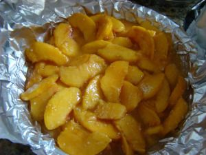 A great way to have a fresh peach pie in the middle of winter! Makes 1 pie filling Ingredients: 3/4 cup granulated sugar 1 tablespoon cornstarch 1 tablespoon MINUTE Tapioca dash nutmeg 4 cups peele…