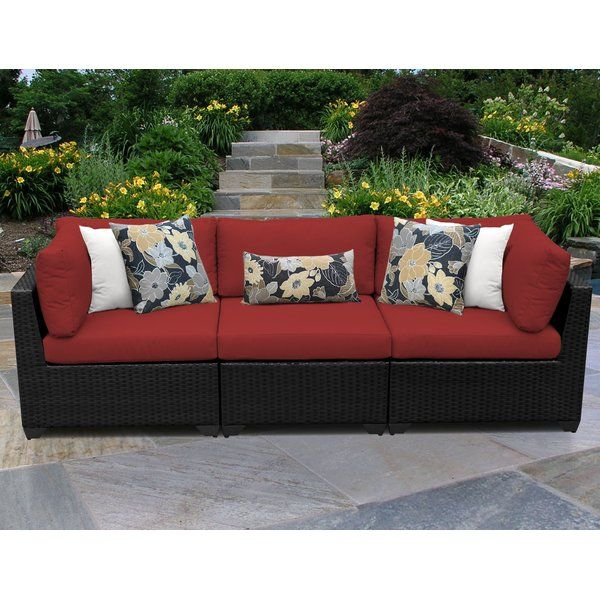 This Product Is Great If You Have A Smaller Space And Want To Maximize Your Seating Each Piece Is Crafted Patio Sofa Patio Sofa Set Wicker Patio Furniture Set