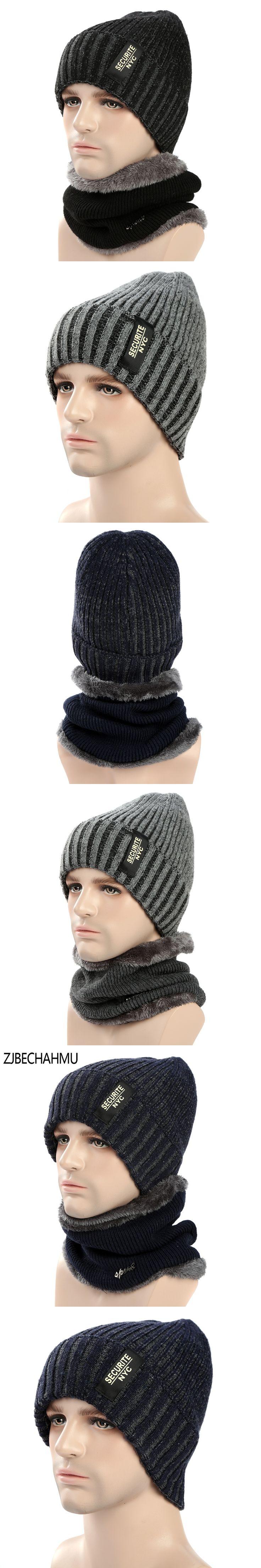 Fashoin Winter Beanies Mens Scarf Knitted Hat Caps Mask Gorras Bonnet Warm Baggy Winter Hats For Men Women Skullies Beanies Hats
