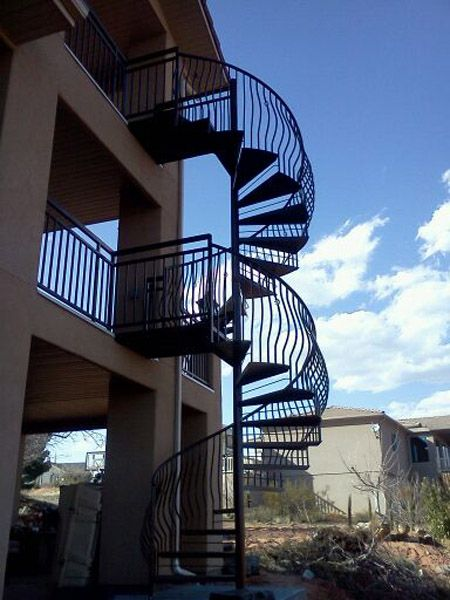 51 best images about stairs on pinterest miniature for 2 story spiral staircase