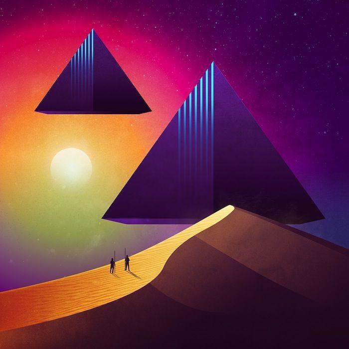Solta um som do Pink Floyd e saca só esses pôsteres retrofuturistas do James White.
