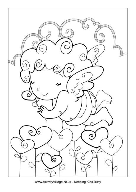Valentine Angel Colouring Page 134 Best S Day For Kids Images On Valentines Activity Village
