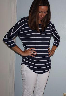Market & Spruce Corinna striped dolman top stitch fix summer 2015 casual nautical women's fashion
