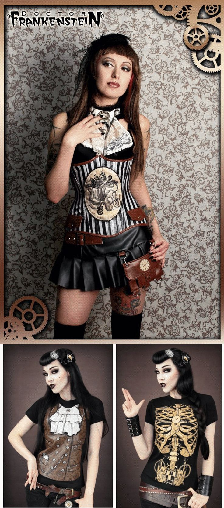 Shop gothic steampunk women's clothing at RebelsMarket.