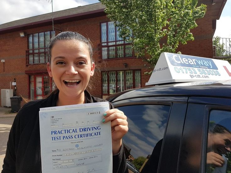 Rosie from Windsor passed her driving at Slough Driving Test Centre in Berkshire in May 2017 after taking a course of driving lessons with Clearway Driver Training driving instructor Peter Fearon.
