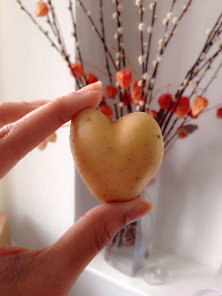 Heart-shaped potato Love