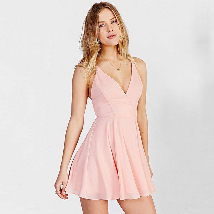 SEXY BACKLESS V-NECK CONDOLE BELT DRESS  $27.00 ON SALE
