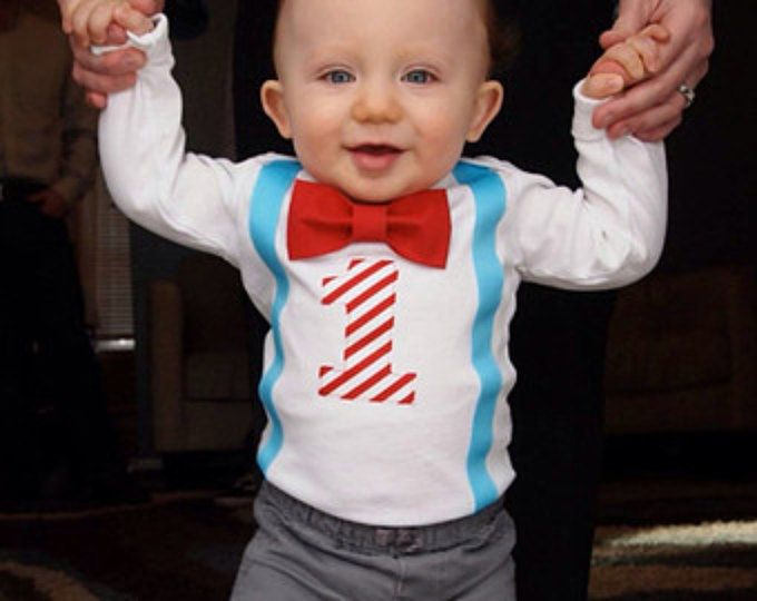 Ragazzi primo compleanno vestito - primo compleanno di Carnevale festeggiato vestito - Bow Tie bretelle - vestito - blu rosso - 1 ° compleanno ragazzo camicia