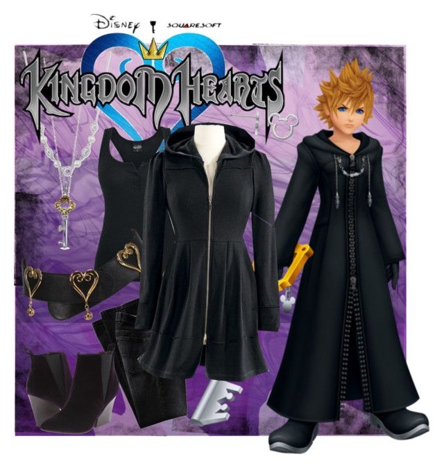 """""""Roxas - Kingdom Hearts 2"""" by marielw97 ❤ liked on Polyvore featuring Givenchy, Roberto Coin, Moschino, Report, Bling Jewelry, Yochi and Disney"""