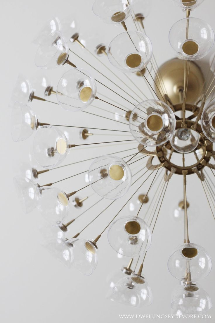 Diy sputnik chandelier - Diy Sputnik Chandelier Created By Bethany Of Dwellings By Devore