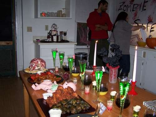 Zombie Party Spread  dec zombie party for my crazy 4 year old