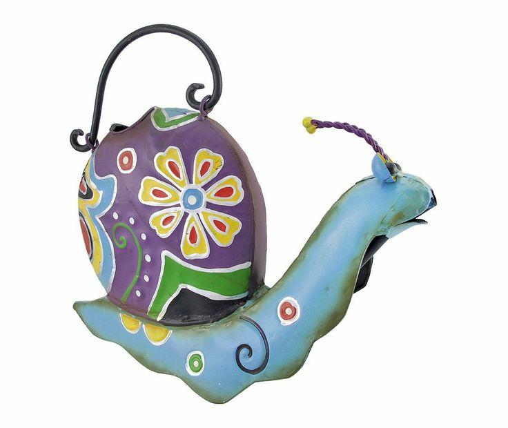 Amazon.com: Folk Art Decorative Metal Snail Watering Can: Patio, Lawn & Garden
