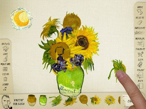 PlayArt - an app let kids create art using elements from masterpieces.  A creative way to introduce art to children.   PlayArt Museum is a game app using the artworks created by kids using PlayArt.  While PlayArt is not free, PlayArt Museum is FREE.