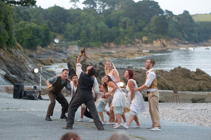 Cscape performing on the private beach at Trebah Garden, Cornwall. Photo by John Freddy Jones.