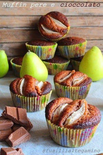 fusillialtegamino: Muffin pere e cioccolato