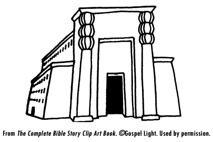 It is a graphic of Ambitious solomon's temple coloring page