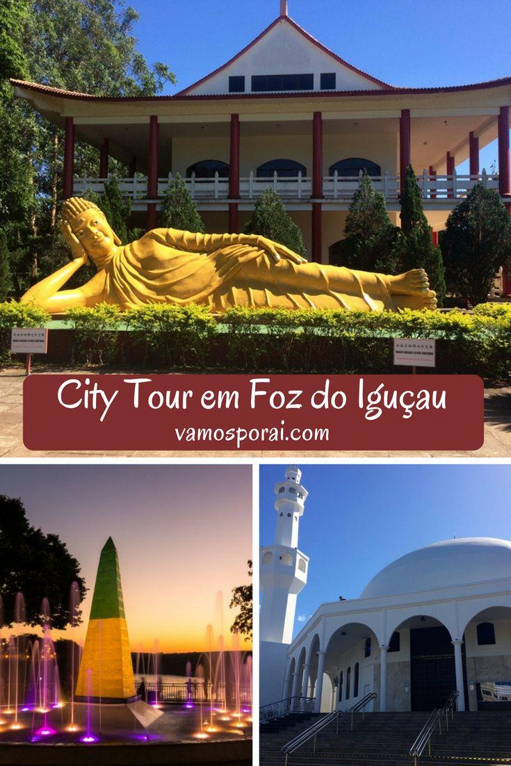 Que tal fazer um City Tour em Foz do Iguaçu a bordo de um ônibus panorâmico e conhecer a Mesquita Islâmica, o Marco das Três Fronteiras e o Templo Budista?