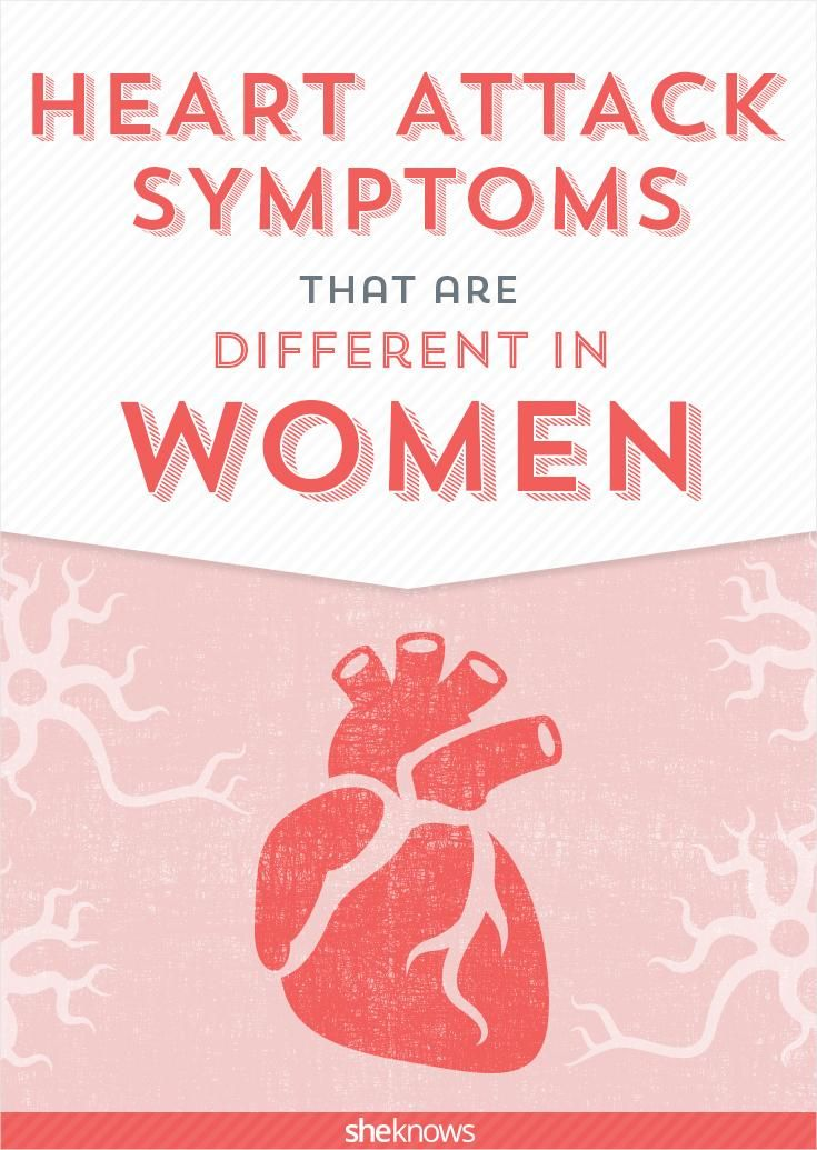 Women's heart attack symptoms are different than men's! Know the signs.