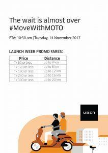 UBER moto launching week OFFER