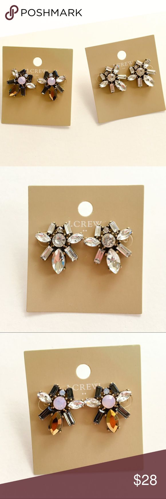 Jcrew crystal statement earrings ⚠️No trade. No model.  💰Price is firm.  🎉3 for 15% off bundle discount + 0 tax! 🎉Checkout more news on FB @Jane's Closet & IG @shopjanes_closet  😍Details: Brand new without tag. No price tag. Material unknown. Price is for each pair. Details see pictures. J. Crew Jewelry Earrings