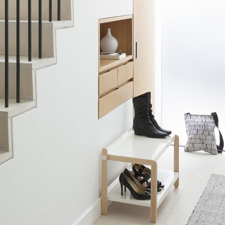 Normann Copenhagen | Sko Shoe Rack https://www.surrounding.com.au/sko-shoe-rack/ Normann Copenhagen Sko Shoe Rack Sko Shoe Rack by Normann Copenhagen is a shoe rack with both an industrial and simple feel, made with robust, Scandinavian materials. Sko was designed by Simon Legald.