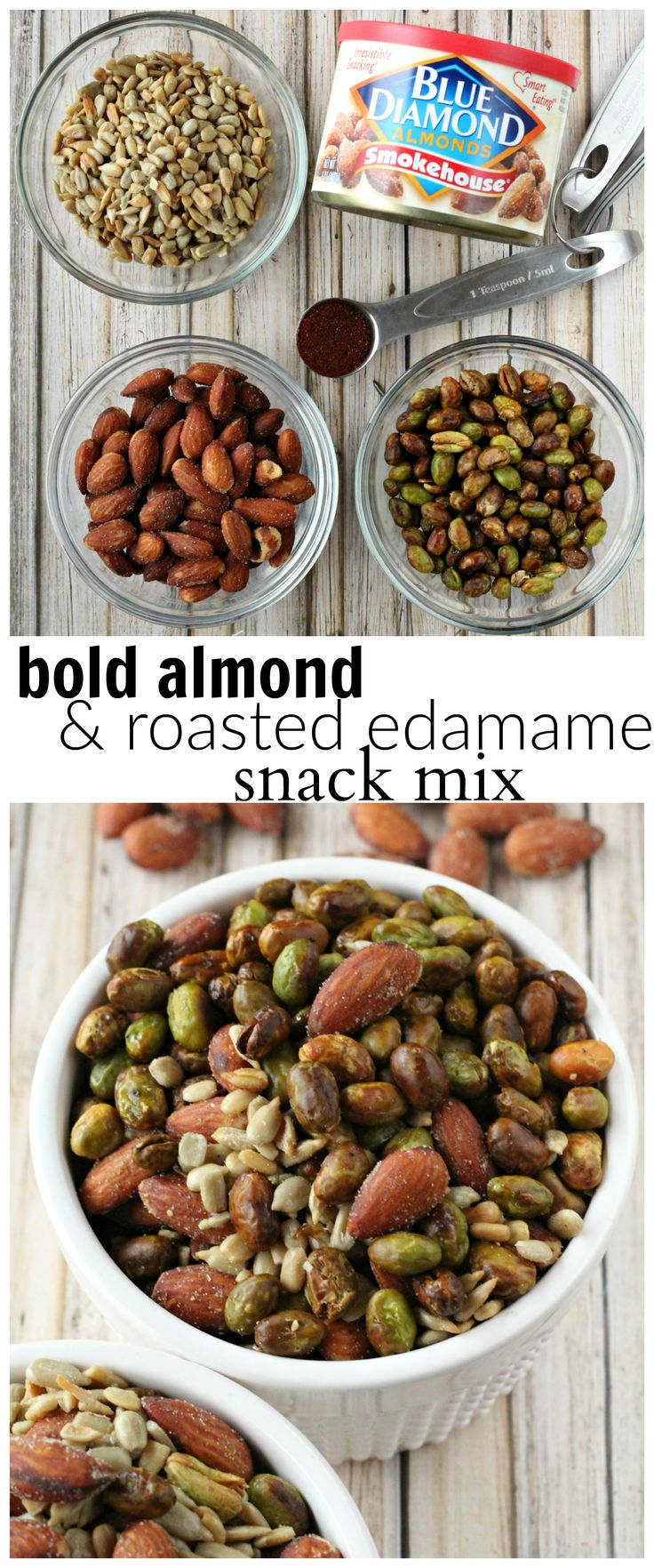 A bold & smokysnackmix with almonds, roasted edamame, and sunflower seeds. #GameChangingFlavors #ad