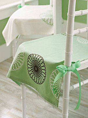 Green White Fabric Dining Room Chair Cover Need To