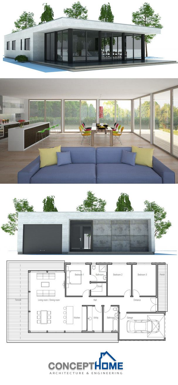 Modern Contemporary Home, Minimalist House Plan