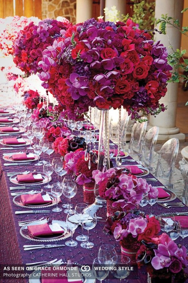 black white purple wedding reception%0A roses and orchids tabletop wedding reception ideas