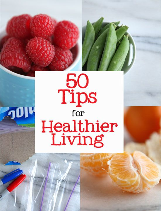 50 Easy Tips for a Healthy Lifestyle...wow I could totally do lots of these!