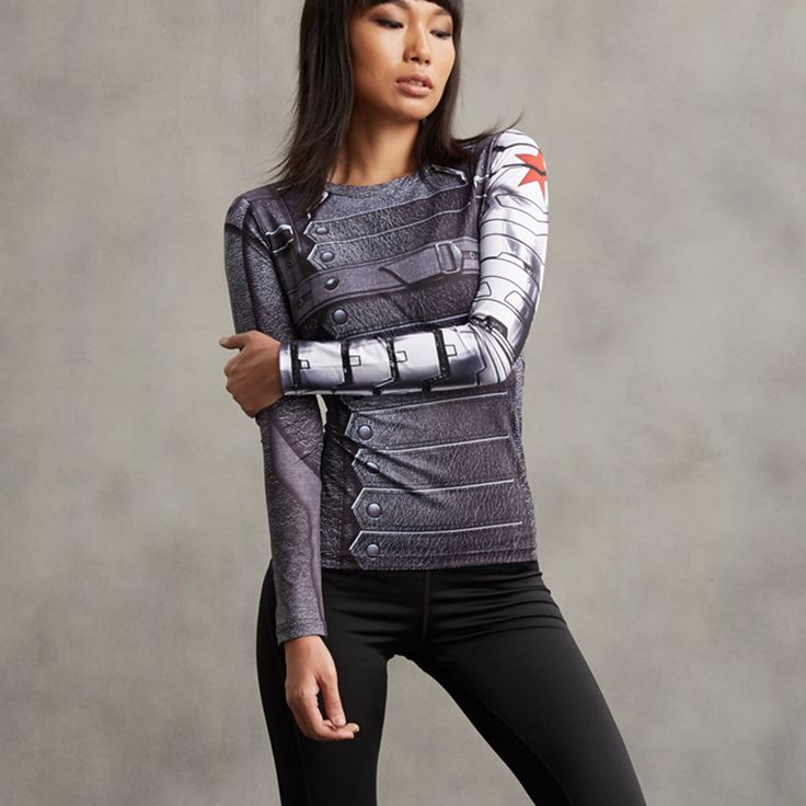 Winter Soldier Compression Longsleeve //Price: $25.00 & FREE Shipping //     #batman #deadpool #marvelc #dc