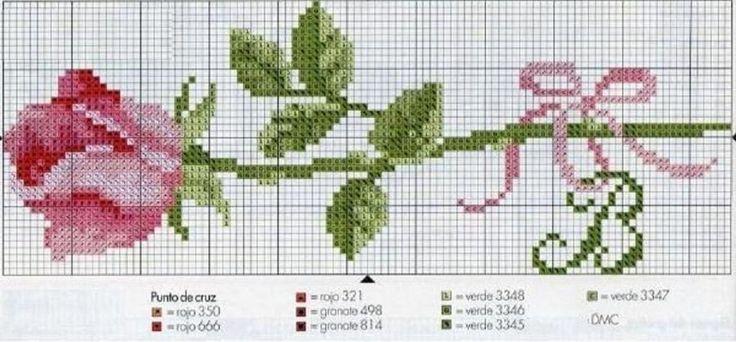 punto de cruz: patrones de rosas en puntos de libros | Puntos de ...