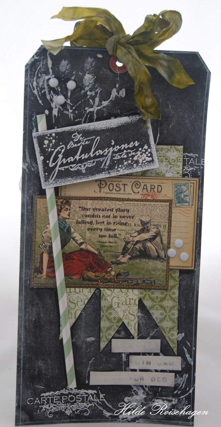 Stempelglede :: Design Team Blog. Rubber stamps used for this project: Vintage Garden and Gratulerer med dagen stamp sets.  2014 © Hilde Røisehagen